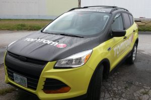 Car wrapped for TomTom